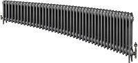 Eastgate Victoriana 3 Column 42 Section Cast Iron Radiator 450mm High x 2562mm Wide - Metallic Finish
